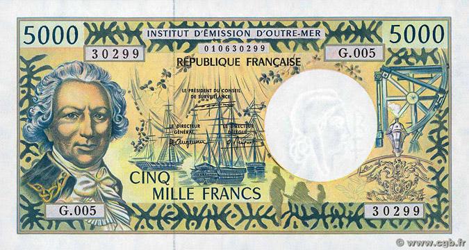 5000 francs Polynésie française Type 1995 Pick##3