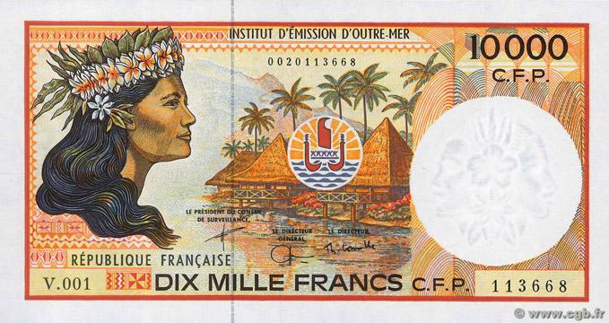 10000 francs Polynésie française Type 1986 Pick##4