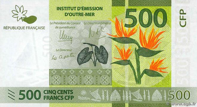 500 francs Polynésie française Type 2014 Pick##5