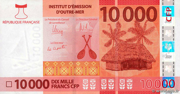 10000 francs Polynésie française Type 2014 Pick##8