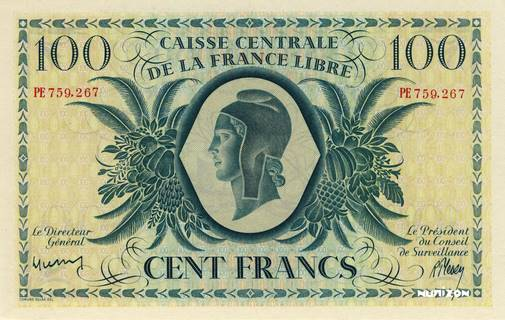 100 francs France libre Type 1944 Pick##37