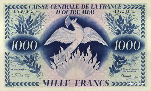 1000 francs Type 1944 modifié  (GB) Pick##NA