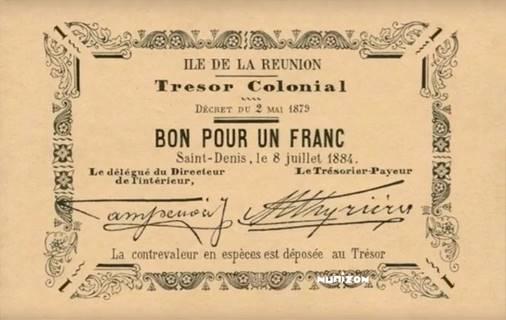 1 franc 1884 Type 2 Pick##2