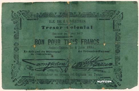 3 francs 1884 Type 2 Pick##4