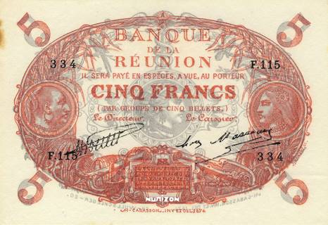 5 francs Cabasson rouge Type 1901  Pick##14