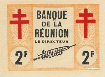 2 francs Croix de Lorraine Type 1943 Pick##35