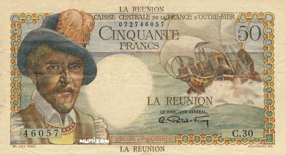 50 francs Belain d'Esnambuc Type 1946  Pick##44