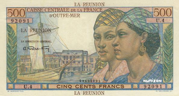 500 francs Pointe à Pitre Type 1946  Pick##46