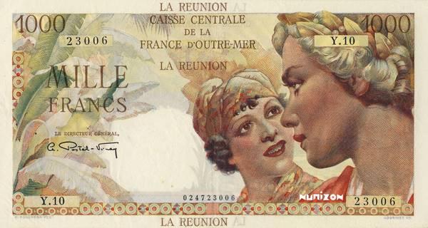 1000 francs Union française Type 1946  Pick##47