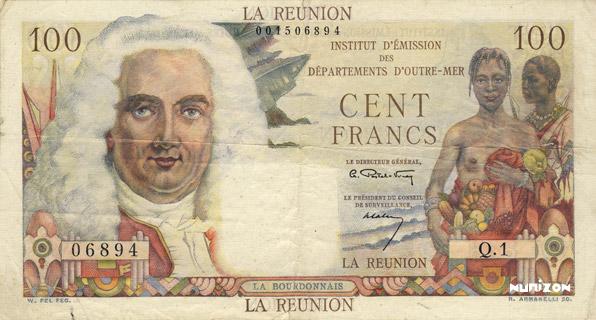 100 francs La Bourdonnais Type 1960  Pick##49