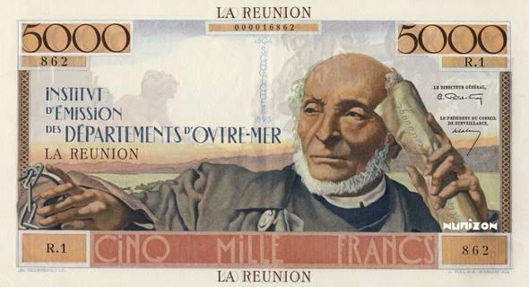 5000 francs Schoelcher Type 1960  Pick##50