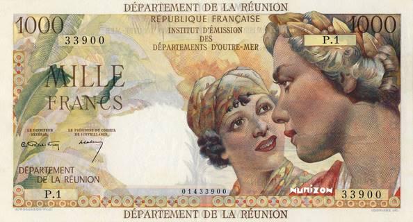 1000 francs Union française département Type 1964 Pick##52