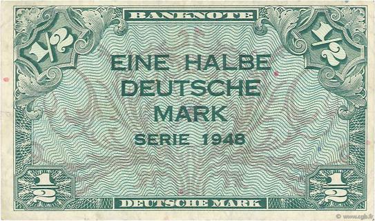 1/2 Deutsche Mark Type 1948 Pick##1