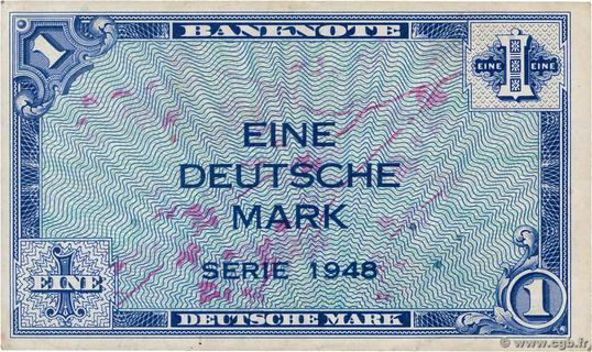 1 Deutsche Mark Type 1948 Pick##2
