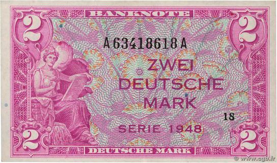 2 Deutsche Mark Type 1948 Pick##3