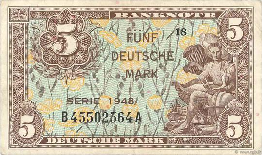 5 Deutsche Mark Type 1948 Pick##4
