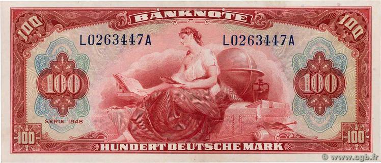 100 Deutsche Mark Type 1948 Pick##8