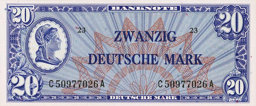 20 Deutsche Mark Type 1948 2e émission Pick##9