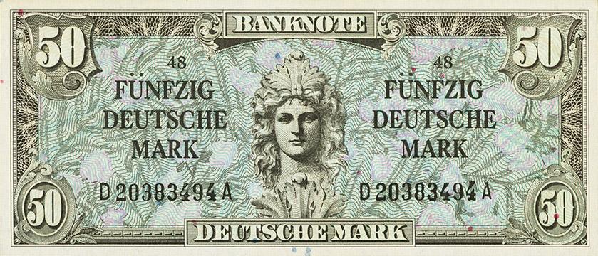 50 Deutsche Mark Type 1948 2e émission Pick##10