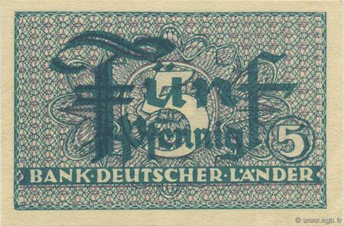 5 Pfennig Type 1948 Pick##11