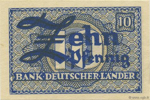 10 Pfennig Type 1948 Pick##12