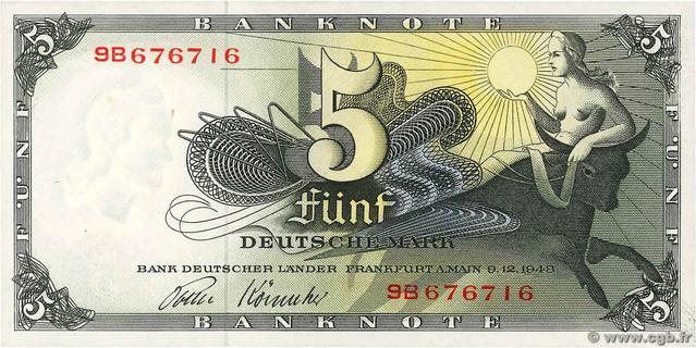5 Deutsche Mark Type 1948 Pick##13