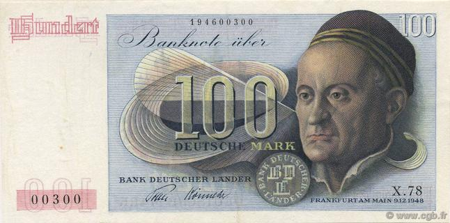 100 Deutsche Mark Type 1948 Jacob Muffel Pick##15