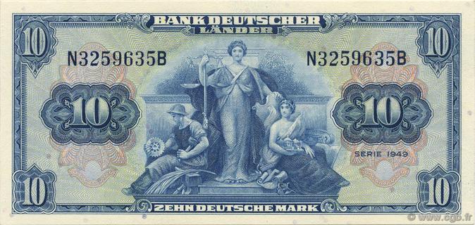 10 Deutsche Mark Type 1949 Pick##16