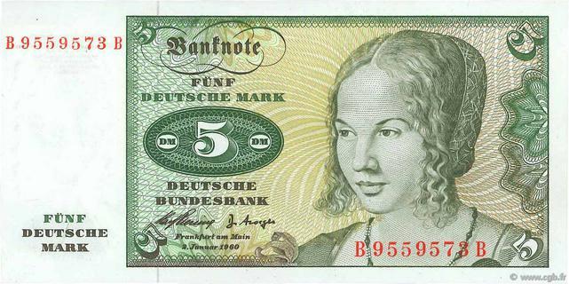 5 Deutsche Mark Type 1960 Pick##18