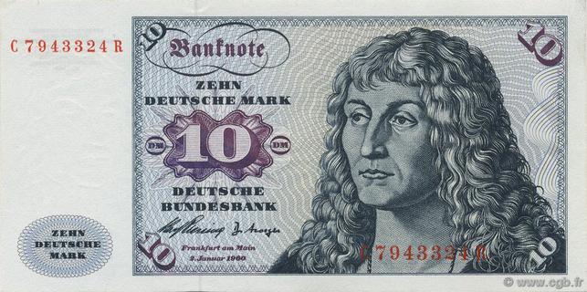 10 Deutsche Mark Type 1960 Pick##19