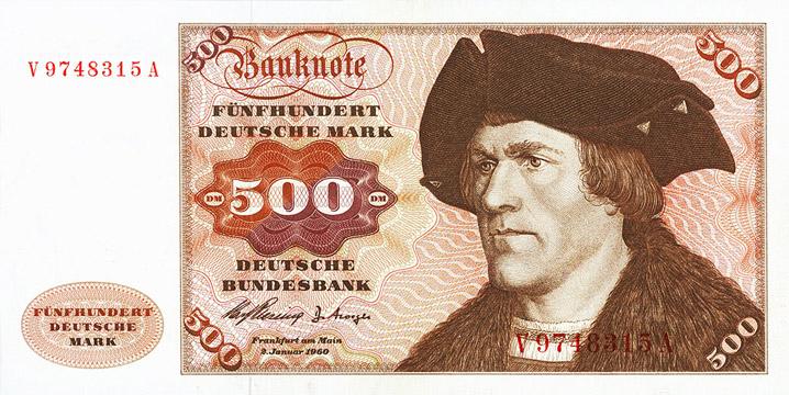 500 Deutsche Mark Type 1960 Pick##23