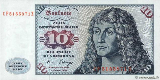 10 Deutsche Mark Type 1970 Pick##31