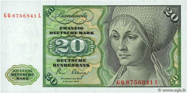 20 Deutsche Mark Type 1970 Pick##32