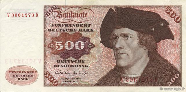 500 Deutsche Mark Type 1970 Pick##35