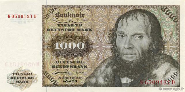 1000 Deutsche Mark Type 1970 Pick##36