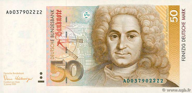 50 Deutsche Mark Type 1989 Pick##40