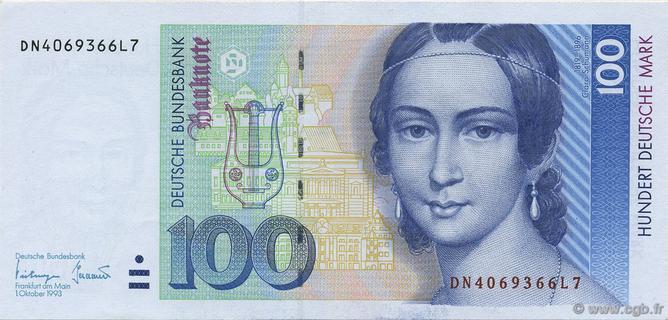 100 Deutsche Mark Type 1989 Pick##41