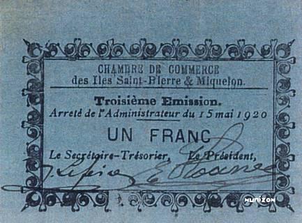 1 franc Type 1920 Pick##NA