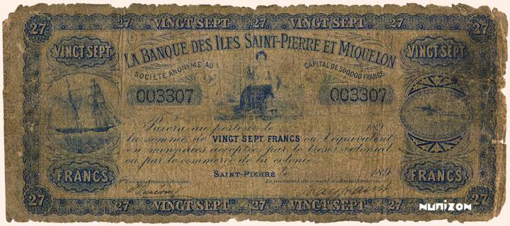 27 francs Type 1895 Pick##1