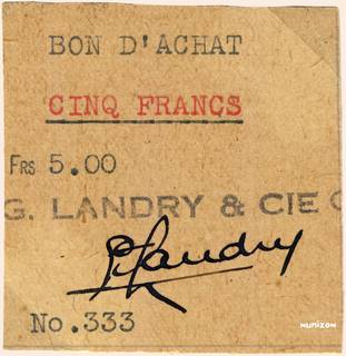 5 francs Type 1942 Bon d'achat Pick##NA