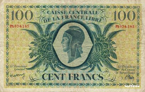 100 francs Type 1943  (GB) Pick##13