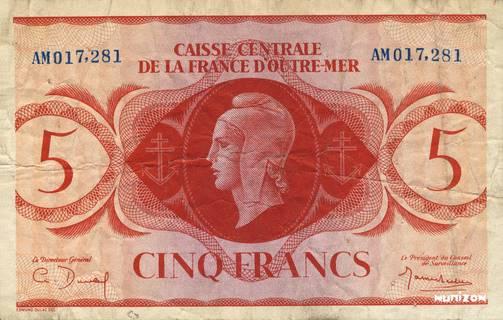 5 francs Type 1944  modifié Pick##15