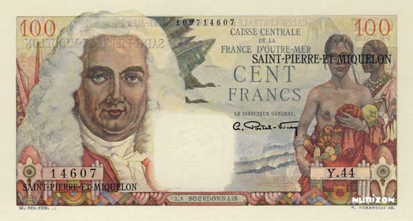 100 francs La Bourdonnais Type 1946 modifié  Pick##26
