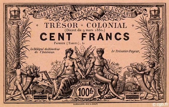 100 francs Trésor Colonial Type 1880 Pick##NL6