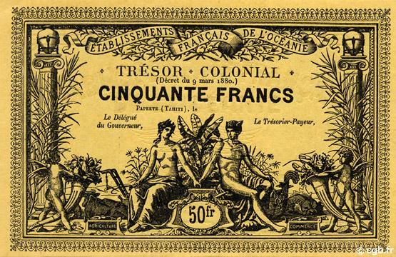 50 francs Trésor Colonial Type 1900 Pick##NL14