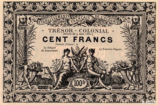 100 francs Trésor Colonial Type 1900 Pick##NL15