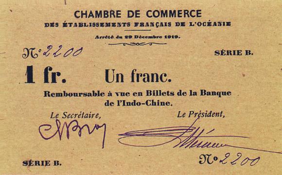 1 franc Type 1919 Pick##FO5