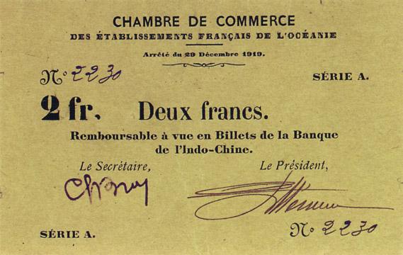 2 francs Type 1919 Pick##FO6