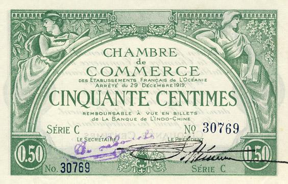 50 centimes Type 1919 impression US Pick##FO2