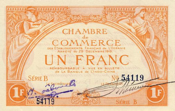 1 franc Type 1919 impression US Pick##FO3